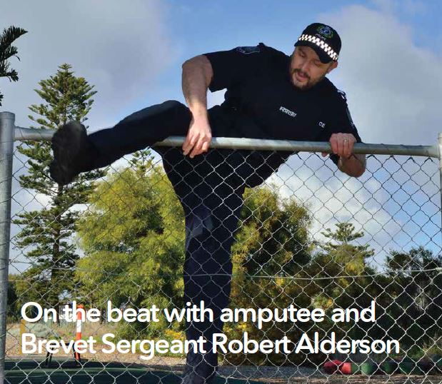 On the beat with amputee and Brevet Sergeant Robert Alderson